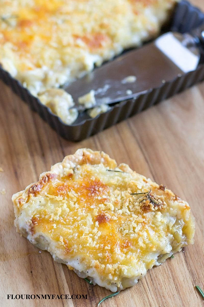 Sweet Onion Tart recipe via flouronmyface.com #JuneDairyMonth #SundaySupper