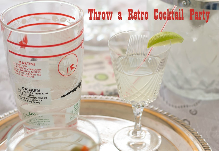 How to Throw a Retro Cocktail Party eBay Guide via flouronmyface.com #ad #Guides4eBay #CollectiveBias