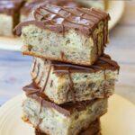 Pinterest image for dessert bars recipe.