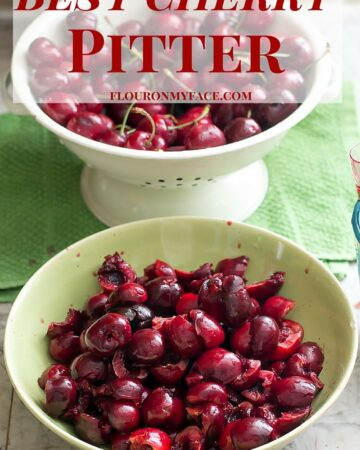 Best Cherry Pitter that gets most of the cherry seeds the first time via flouronmyface.com #ad #affiliate