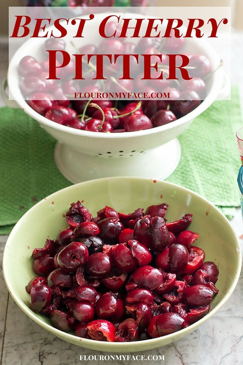 Best Cherry Pitter that gets most of the cherry pits the first time via flouronmyface.com #ad #affiliate