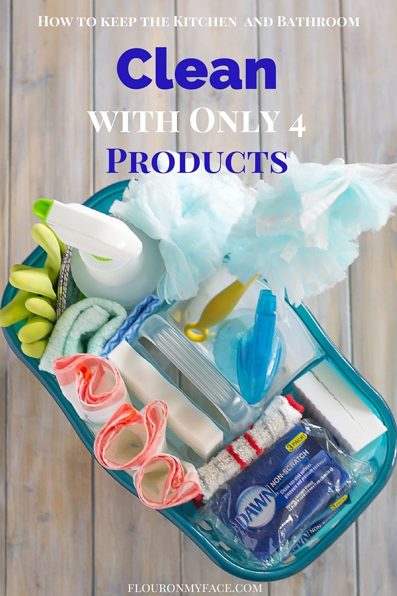 How to clean your kitchen and bathroom with 4 of the best cleaning products at Costco via flouronmyface.com