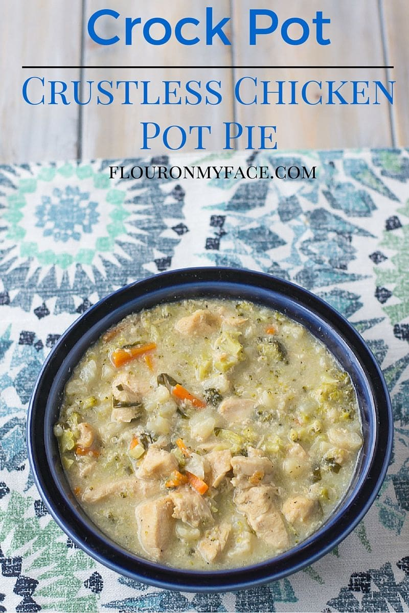 Crock Pot Crustless Chicken Pot Pie