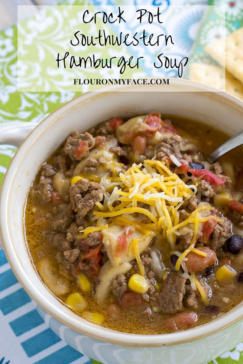 Easy crockpot recipe using ground beef that lets you feed the family on a food budget via flouronmyface.com