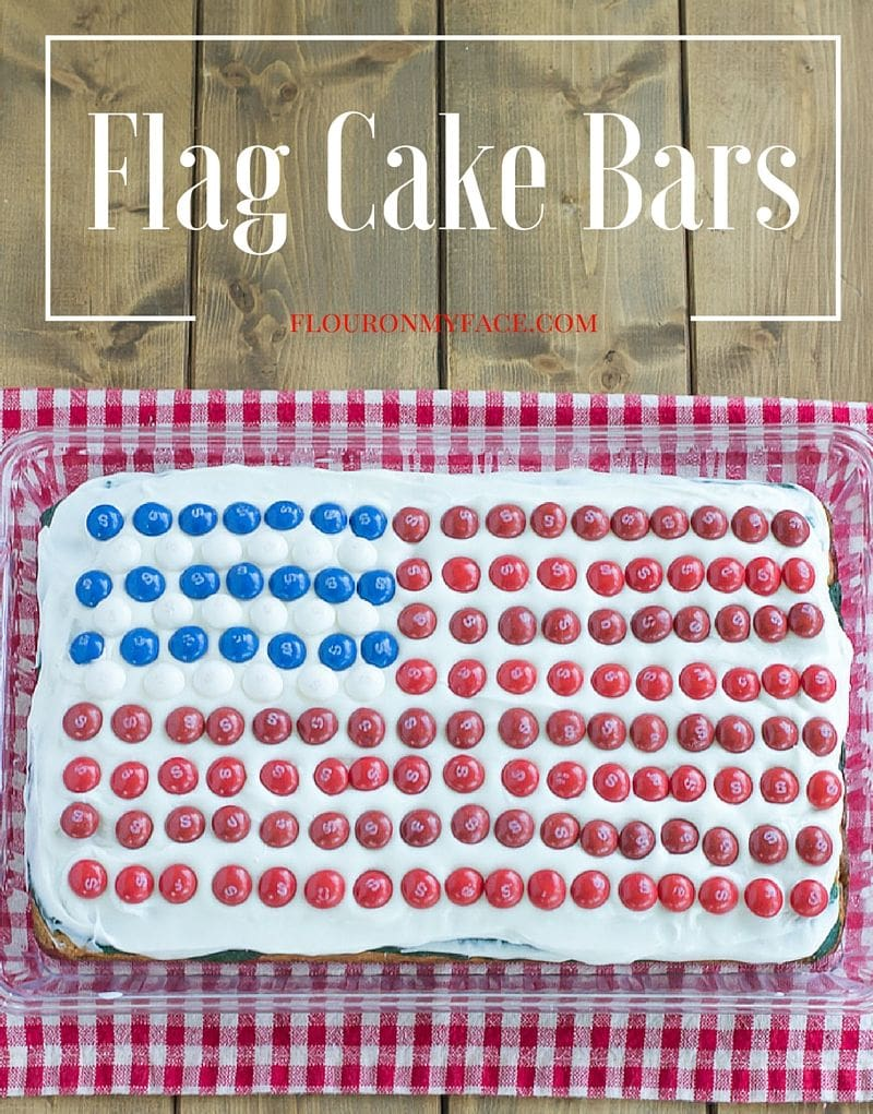 Make these Flag Cake Bars for the 4th of July via flouronmyface.com #ad