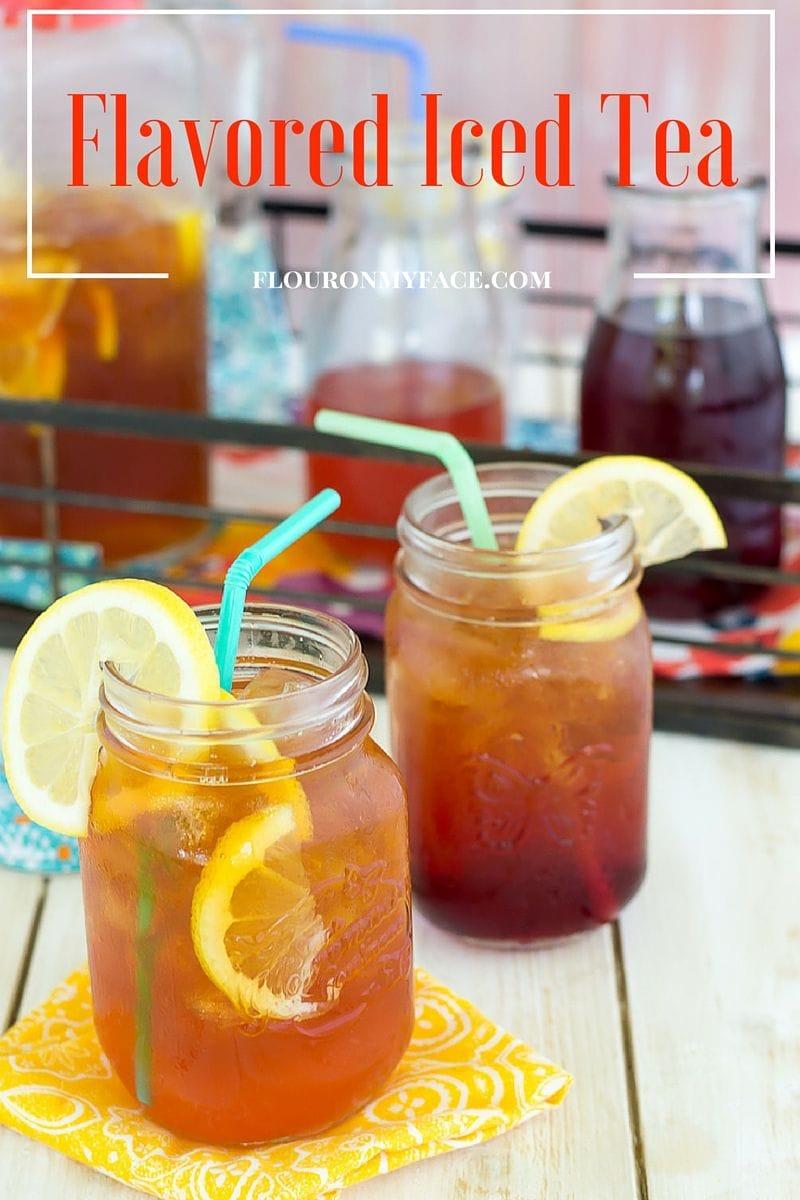 Flavored Iced Tea recipes via flouronmyface.com Peach Iced Tea recipe and Hibiscus Iced Tea recipe