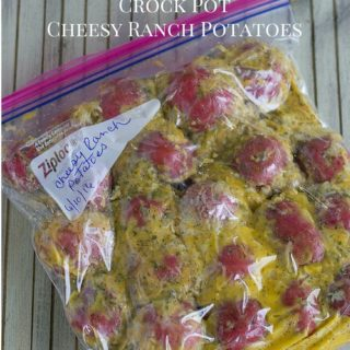 Crock Pot Freezer Meals: Cheesy Ranch Potatoes recipe via flouronmyface.com