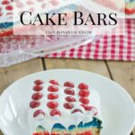 Red White and Blue Cake Bars #SkittlesAmericaMix