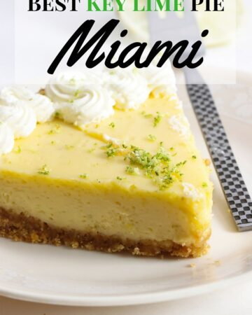 If your visiting Miami there is only one dessert recipe you need to order. Key Lime Pie is the official Florida state Pie and there are a few resturants that offer the Best Key Lime Pie in Miami-via flouronmyface.com