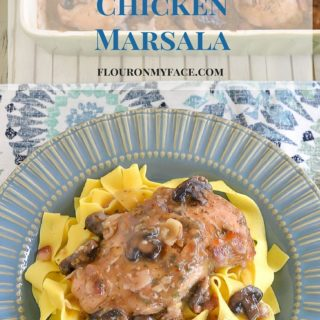 Crockpot Chicken recipe: Crock Pot Chicken Marsala Recipe via flouronmyface.com
