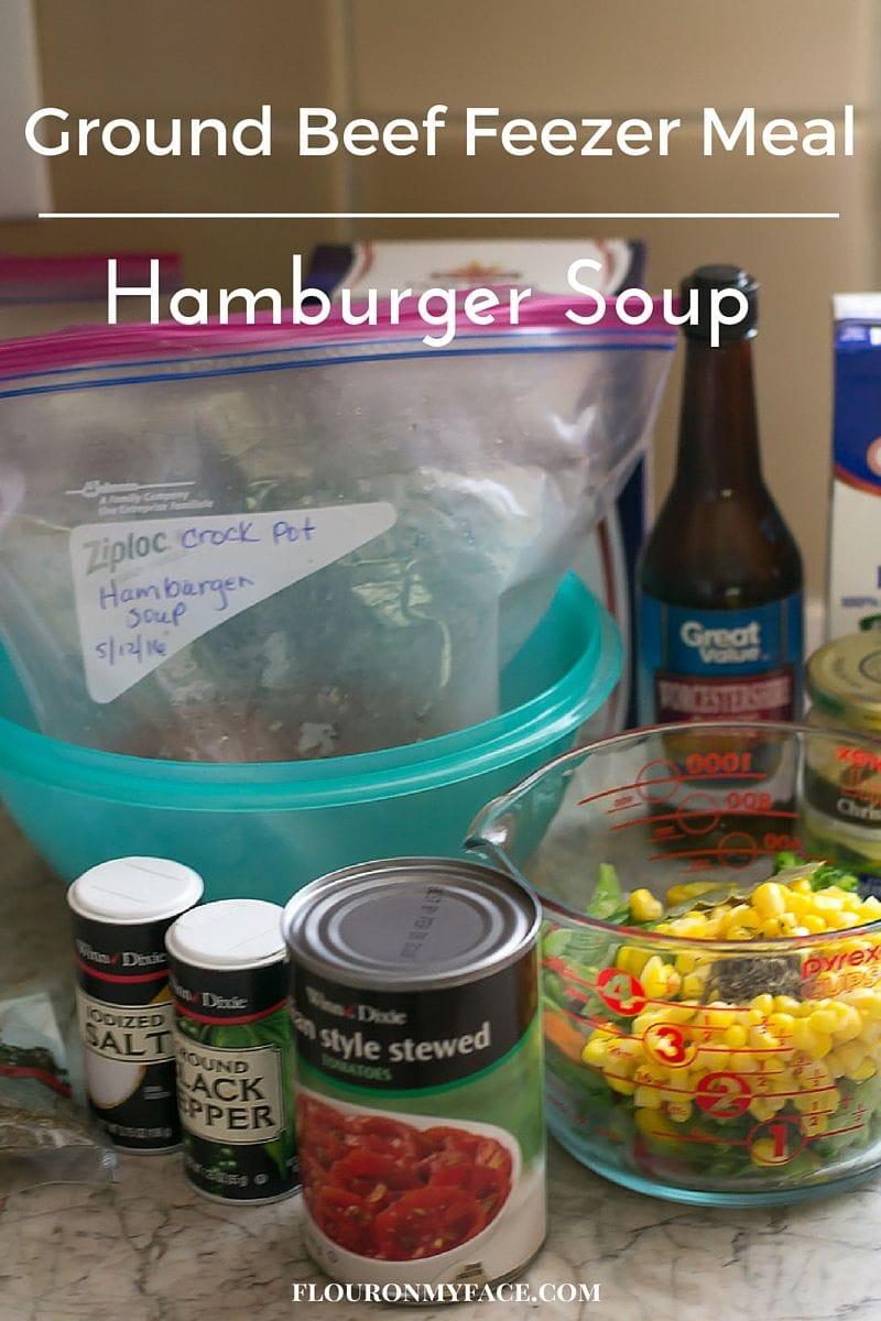 Ground Beef freezer meal recipe via flouronmyface.com