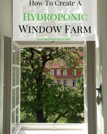 How to create a Hydroponic Window Farm via flouronmyface.com