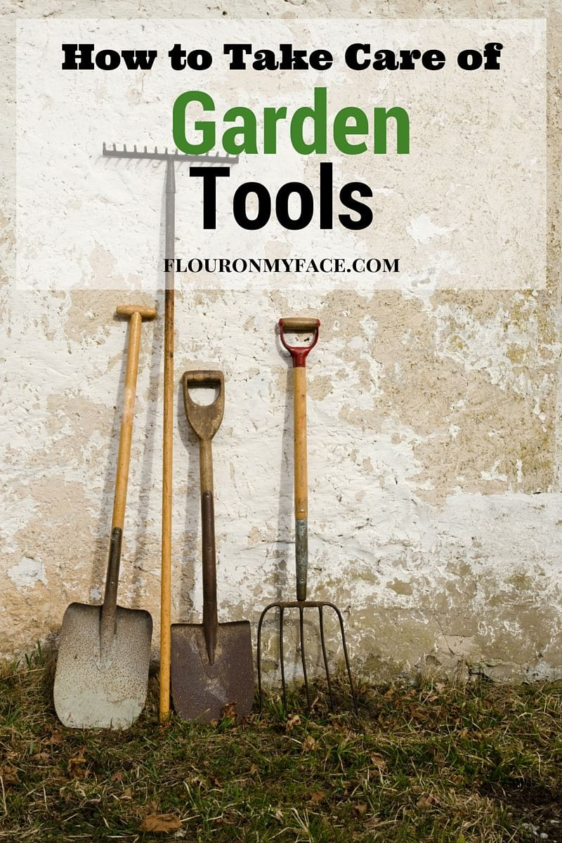 How to take care of garden tools flour on my face for Gardening tools you need