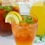 Mango Iced Tea in a glass.