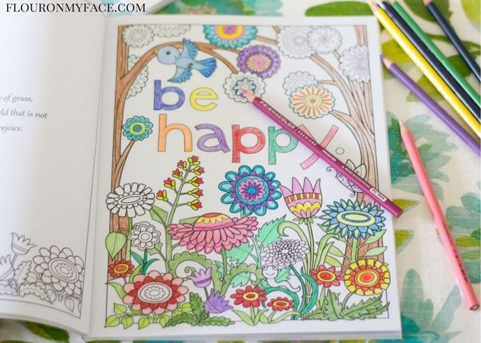 Inkspirations coloring books are adult coloring books that are easy to color and finish quickly via flouronmyface.com