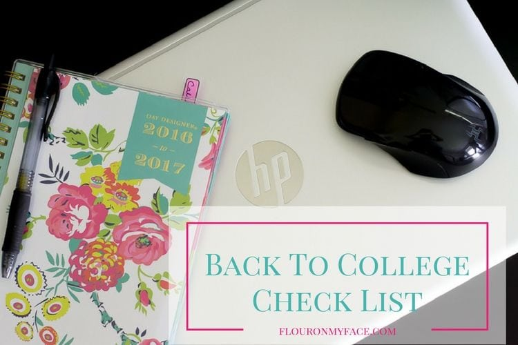 Back to College Check LIst for the week before classes start via flouronmyface.com #ad #BTSwithHP