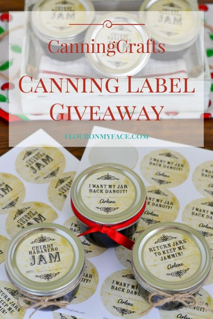 CanningCrafts Canning Label Giveaway via flouronmyface.com