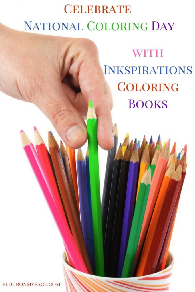 Celebrate National Coloring Day with Inspirations coloring books via flouronmyface.com