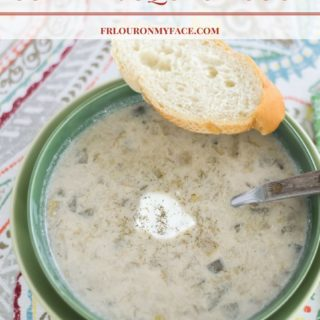 Crock Pot Summer Squash Soup recipe via flouronmyface.com