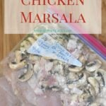 Freezer Meals: Crock Pot Chicken Marsala Recipe