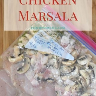 Freezer Meals: Crock Pot Chicken Marsala recipe via flouronmyface.com . Get your meal planning done with easy freezer cooking.