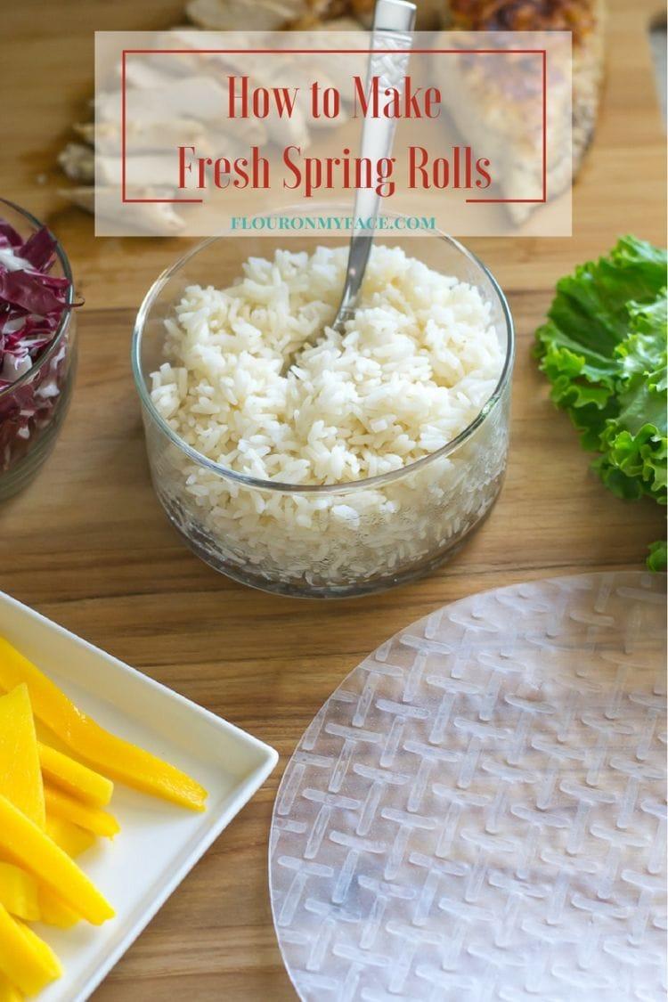 How to make fresh spring rolls via flouronmyface.com