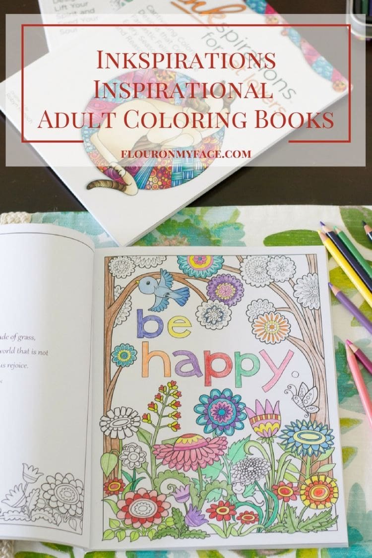 Inkspirations Adult Coloring Books are coloring books for adults full of inspiration via flouronmyface.com