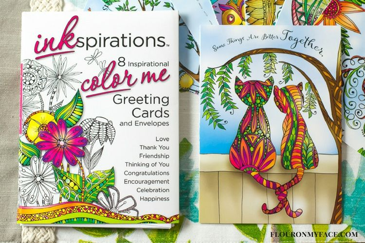 Inkspirations Color Me Greeting Cards via flouronmyface.com #ad