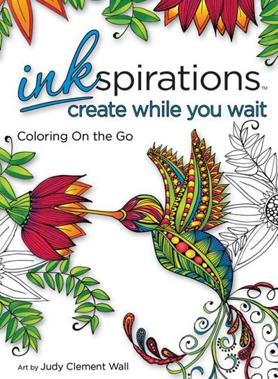 Inkspirations Create While You Wait 5 x 7 coloring book for creating on the go via flouronmyface.com #ad