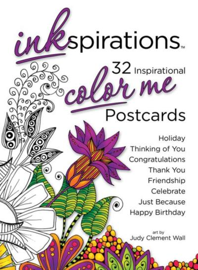 Inkspirations Color Me Postcards via flouronmyface.com