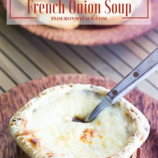 Crock Pot French Onions Soup recipe via flouronmyface.com