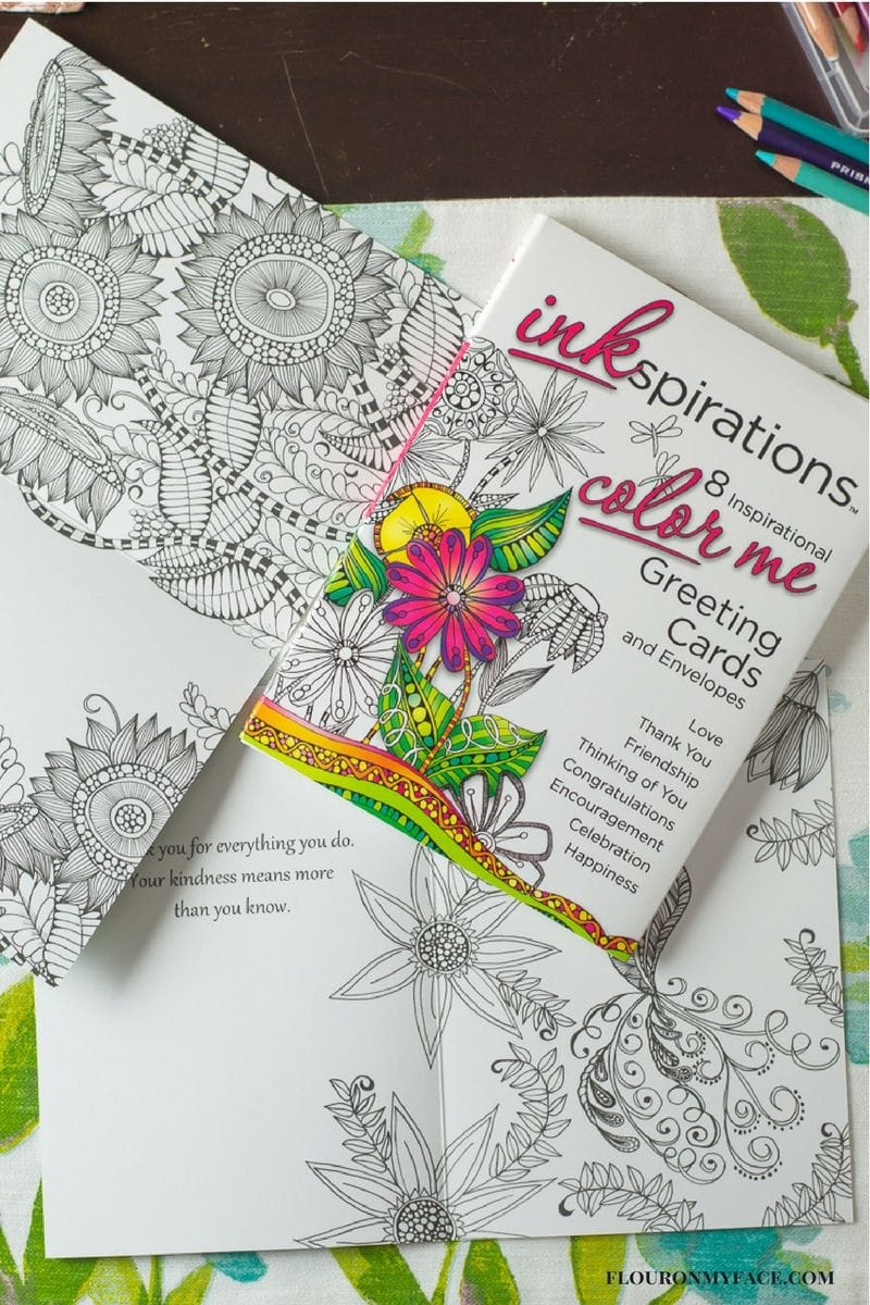 Inkspirations Color Me Greeting Cards via flouronmyface.com