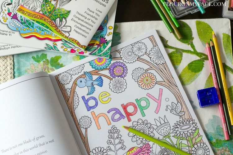 Inkspirations In The Garden Coloring book via flouronmyface.com