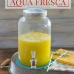 Enjoy a tall glass of this Mango Aqua Fresca before the summer is gone via flouronmyface.com