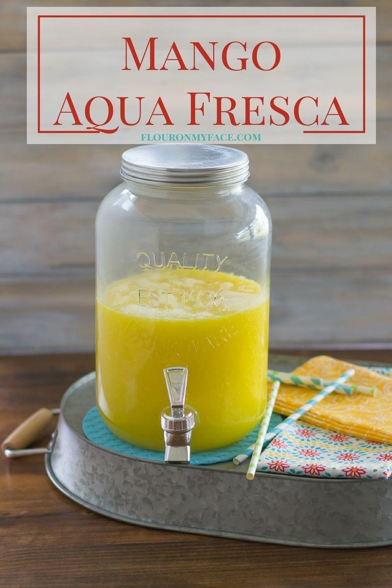 Enjoy a tall glass of this Mango Aqua Fresca before the summer is gone via flouronmyface.com