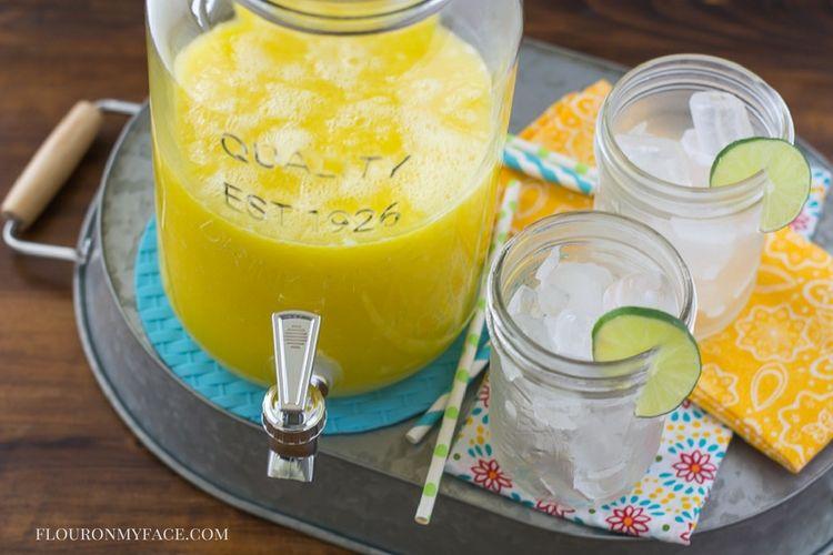 Mango Aqua Fresca recipe via flouronmyface.com