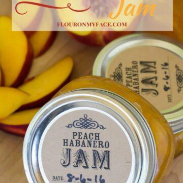 Peach Habanero Jam recipe made with fresh Washington State peaches via flouronmyface.com #ad #canbassador