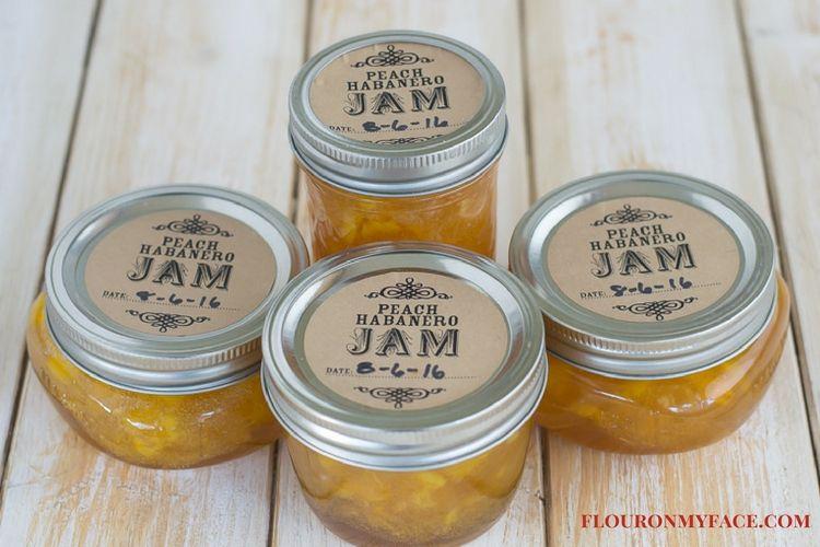 Peach Pepper Jam recipe via flouronmyface.com