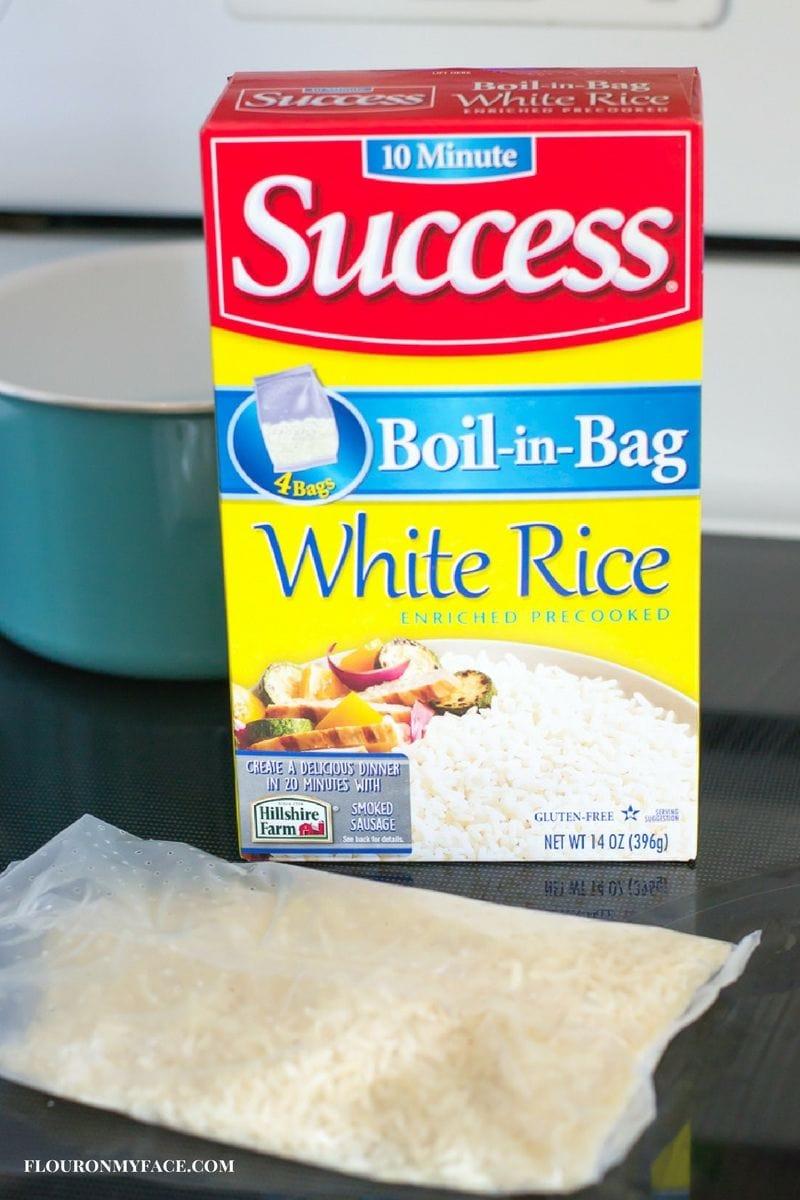 Easy Fresh Spring Roll recipe using Success Boil in a Bag White Rice via flouronmyface.com
