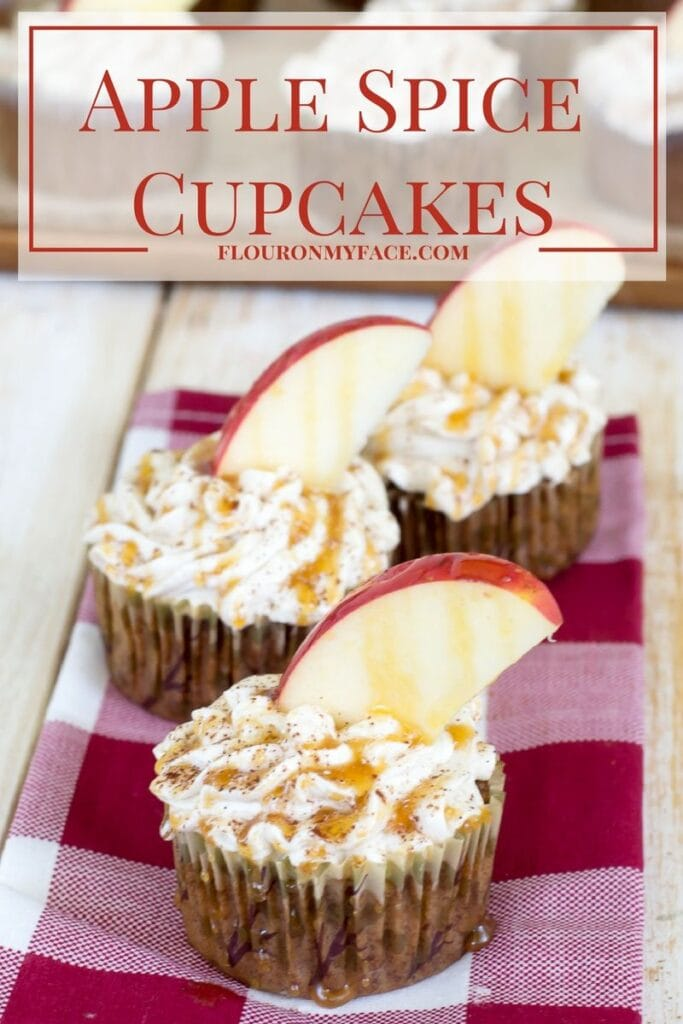 Apple Spice Cupcakes with Caramel Apple Coffee Frosting via flouronmyface.com