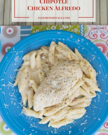 Crock Pot Chipotle Chicken Alfredo recipe via flouronmyface.com #ad #CrockPotRecipes