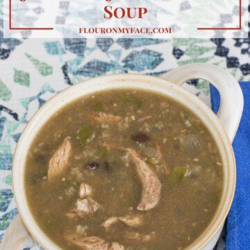 Crock Pot Slow Cooker Jamaican Jerk Chicken Soup recipe via flouronmyface.com