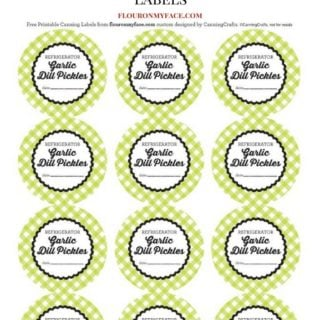 FREE Refrigerator Garlic Dill Pickles Canning Label via flouronmyface.com