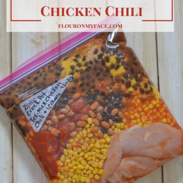 Freezer Meals Tex-Mex Chicken Chili recipe via flouronmyface.com