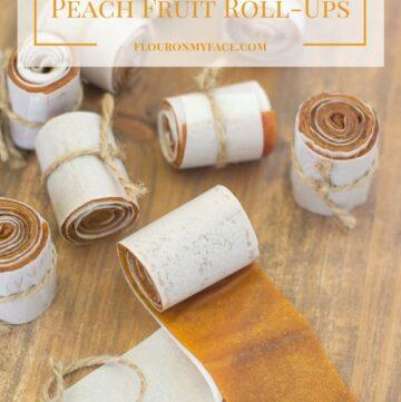 How to make homemade Peach Fruit Roll-Ups or Peach fruit leather recipe via flouronmyface.com