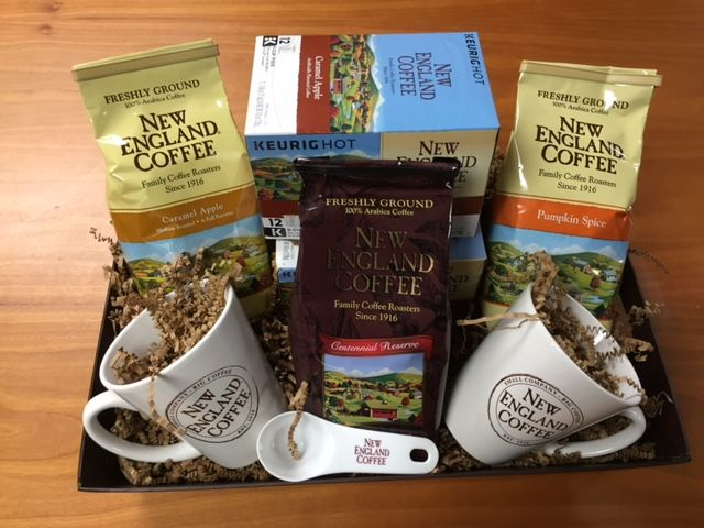 New England Coffee Giveaway Prize Basket via flouronmyface.com #ad