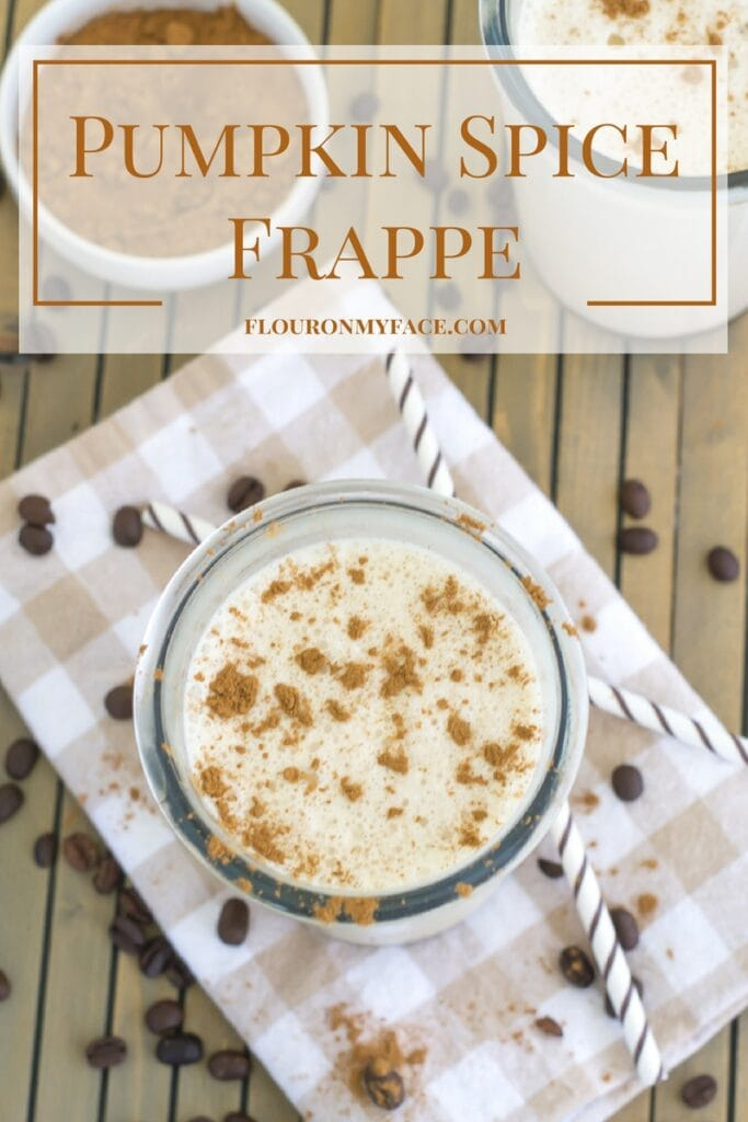 Lactose free Pumpkin Spice Frappe recipe to celebrate National Coffee Day without #DairyEnvy #ad via flouronmyface.com