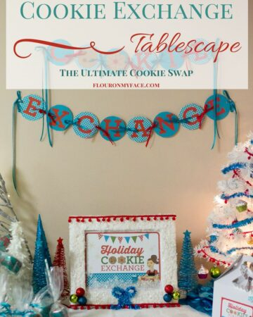 Christmas Cookie Exchange Banner Printable to decorate your cookie exchange