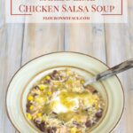 Crock Pot Garlic Lime Chicken Salsa Soup