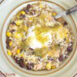 Garlic Lime Chicken Salsa SOup recipe via flouronmyface.com